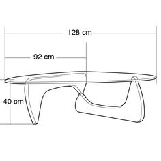 Noguchi Coffee Table Dimensions at Party Ideas and Tutorials Party Theme Coffee Table Size, Coffee Table Dimensions, Coffee Table Design, Centre Table Design, Noguchi Coffee Table, Vintage Furniture Design, Isamu Noguchi, Contemporary Coffee Table, Table Sizes