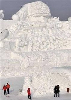 Santa Snow Sculpture-Always astounded!