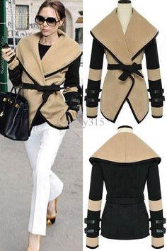 Best Sexy 2013 New Fashion Women Leather Sleeves Wool Military Jacket Plus Size Western Victorian Poncho Cape Coat Online with $35.75/Piece | DHgate