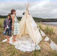 We took a MIDI size teepee to the beach with us this evening, why not?!