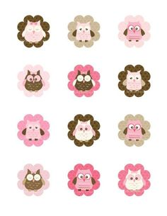 Pink Owl Cupcake Toppers Owl Party Printable by TracyAnnPrintables Owl Parties, Owl Birthday Parties, Deco Cupcake, Cupcake Toppers, Owl Cupcakes, Pink Owl, Bottle Cap Images, Candy Cards, Baby Owls