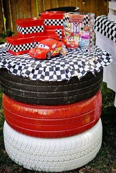 A Disney Cars birthday party is all about celebrating in the fast lane. Take a pit stop to check out our winning decorations, party favors, games, and cakes that little racers will love. Hot Wheels Birthday, Race Car Birthday, Race Car Party, 3rd Birthday, Birthday Ideas, Festa Hot Wheels, Hot Wheels Party, Disney Cars Party, Disney Cars Birthday