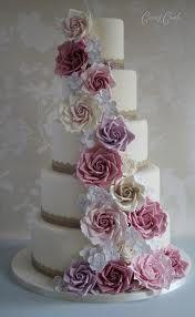 vintage rose wedding cake - Google Search