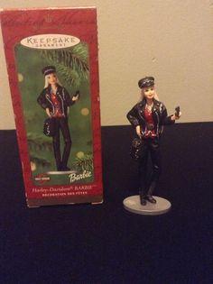 2000 Hallmark Keepsake Harley Davidson Barbie Christmas Tree Ornament 08554