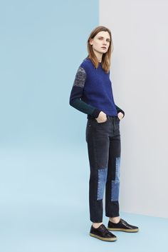 Blue / patchwork | Paul by Paul Smith Autumn/Winter '15 - Paul Smith Collections