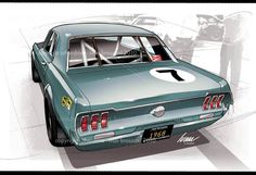 Ford Mustang 67 racing