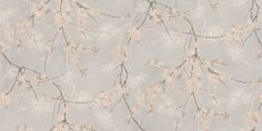 Albany Roma (6029) - Albany Wallpapers - A beautiful blossom design in pale pink on trailing branches overlaid on a separate snow white trail against a light grey background. Quality textured Italian vinyl good for use in high traffic areas. Please request sample for true colour match.