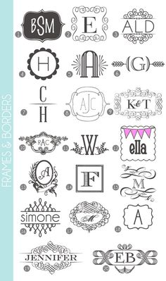 Made Easy: 72 Fonts & Frames Great website that links you to free fonts! Monograms Made Easy: 72 Fonts & Frames - damask loveGreat website that links you to free fonts! Monograms Made Easy: 72 Fonts & Frames - damask love Fancy Fonts, Cool Fonts, Logo Inspiration, Cricut Fonts, Silhouette Cameo Projects, Silhouette Fonts, Silhouette Machine, Typography Fonts, Decoupage