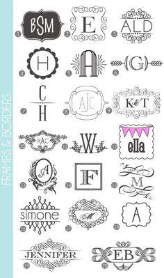 Monograms Made Easy: Frames & Border Fonts | Damask Love Blog