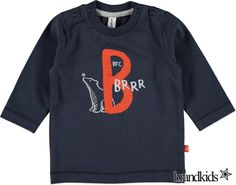 Babyface Longsleeve donkerblauw - Jongens Baby T-shirts lange mouw €11,95