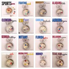 What team are you cheering for? #OrigamiOwl has a charm for you! Contact me today to get your locket ready in time for the next big game. https://www.facebook.com/OObyAmanda/