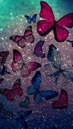 butterflies beautiful butterflies i love you Butterfly Wallpaper Iphone, Phone Screen Wallpaper, Glitter Wallpaper, Cute Wallpaper Backgrounds, Tumblr Wallpaper, Wallpaper Iphone Cute, Pretty Wallpapers, Cellphone Wallpaper, Colorful Wallpaper