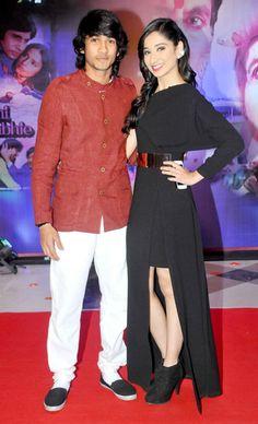 Shantanu Maheshwari and Vrushika Mehta at the Yash Chopra Memorial Award event.