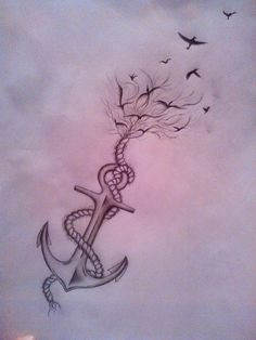 Anchor/bird tattoo by hogusia.deviantart.com on @DeviantArt | Tattoo idee |  Pinterest | Tattoos, Small tattoos and Anchor tattoo design