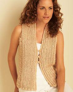 Ravelry: Vest by Bernat Design Studio...LOVE this vest--LOVE the free pattern! Thanks for sharing!!