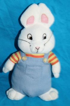 """Ty Beanie Baby Max from Nickelodeon Max and Ruby Bunny 7"""" Stuffed Animal Toy"""