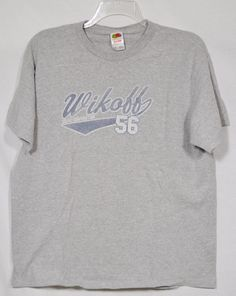 FRUIT OF THE LOOM Mens Gray T-Shirt XL Wikoff Color Corporation Short Sleeves #FruitoftheLoom #GraphicTee