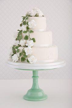 Rambling Rose Wedding Cake by Maisie Fantaisie