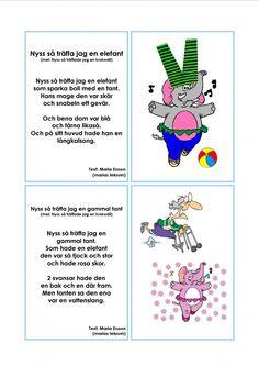 Mariaslekrum Learn Swedish, Swedish Language, Bra Hacks, Kids Songs, Pre School, Teaching Resources, Education, Learning, Children