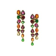 YAEL SONIA GARNET JEWELRY | ... garnet, mandarine garnet and diamond earrings in 18k gold by Trésor
