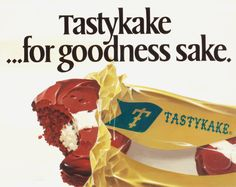 Classic Tastykake ad! Taste Of Philly, Vintage Lunch Boxes, School Lunch Box,