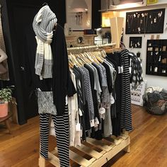 Betty Basics stand all stocked up for the weekend.... Perfect outfits for relaxing on this wet and cold Saturday . #morningslikethese #saturday #instastyle #shutthefrontdoorstore #stfdnz #ponsonby #takapuna #bettybasics #relaxmode #casualstyle #basics
