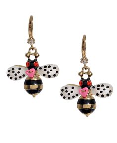 Betsey Johnson Earrings, Bumble Bee Drop - Fashion Jewelry - Jewelry & Watches - Macy's