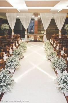 tapete de casamento branco