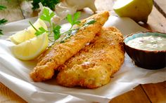 Crunchy Crumbed Fish with Tartare Sauce