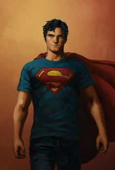 I want draw a young superman.he doesn't looks like a teenager SUPERMAN Mundo Superman, Superman Family, Superman Man Of Steel, Superman Wonder Woman, Batman And Superman, Superman Stuff, Superman Characters, Dc Comics Characters, Superboy Young Justice