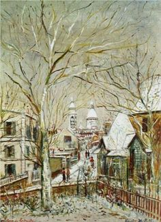 Sacre-Coeur and castle Brouillards - Maurice Utrillo