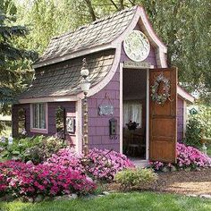 Amazing Victorian style shed from my board called~*Divinely Designed Potting Shed's & Green Houses*~