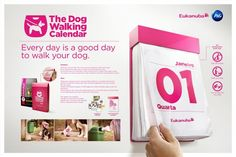 "Eukanuba – ""The Dog Walking Calendar"" – Design Advertising Awards, Clever Advertising, Print Advertising, Monthly Planner Printable, Printable Calendar Template, Kids Calendar, Calendar Design, Ads Creative, Creative Director"