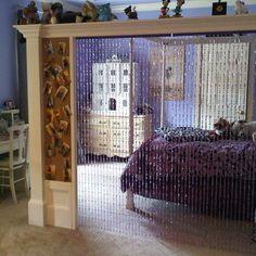 Eclectic Bedroom///Bead wall