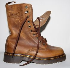 Men's Woman's Dr Martens Boots Size 4 Brown 100% Leather New Boxed Punk Goth