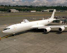 1987 MR E-6A TACAMO at Boeing Plant Seattle Washington 8x10 Photo