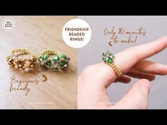 Diy Beaded Rings, Ring Tutorial, Friendship Rings, Beaded Jewelry Designs, Seed Beads, Youtube, Search, Rings, Ring