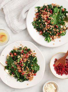 Winter Farro & Kale Salad with hazelnuts & pomegranates / loveandlemons.com