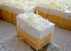 Ledeno nebo kolač ~ Kuhinja i ideje Czech Recipes, Russian Recipes, Sweet Desserts, Sweet Recipes, Cake Bars, Pavlova, Food Pictures, Nutella, Sweet Tooth