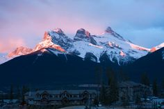 to climb the middle sister .........Canmore Alberta - The Three Sisters