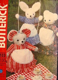 "Butterick 4533 Sewing Pattern Vintage Pajama Bag Animals, Easter 24"" Rabbit, 21"" Mouse, 20"" Bear by Butterick Co,http://www.amazon.com/dp/B007DUQFOU/ref=cm_sw_r_pi_dp_Vlmetb0R7SVE3C3P"