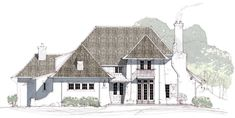 Architecture and Interior Design firm providing design for Custom Residential, Multi-Family, TND developments, Commercial and Interior Design Projects. Architecture Concept Drawings, Classical Architecture, Architecture Details, Architectural Drawings, European House, Modern House Plans, Design Firms, Traditional Design, Cottage Style