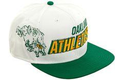 Nike Team Sports MLB CP SSC Oakland Athletics Snapback Hat - White, Green