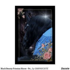 Black Beauty Friesian Horse - Poster Horse Posters, Photo Composition, Friesian Horse, Black Beauty, Keep It Cleaner, Horses, Canvas, Digital, Artwork