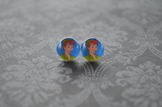 Peter Pan 10mm Stud Earrings by ArtzyFartzyNerd on Etsy