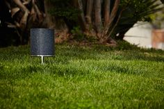 Short Cylinder, omnidirectional sound module in black granite, designed by Vladimir Djurovic for Architettura Sonora