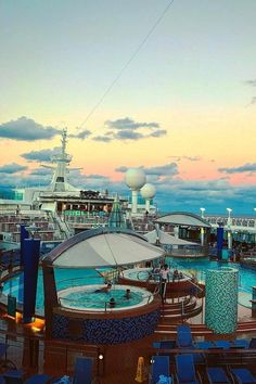 """Figure out even more relevant information on """"Royal Caribbean ships"""". Have a look at our site. Cruise Tips Royal Caribbean, Royal Caribbean Ships, Anthem Of The Seas, Candyland, Paris Skyline, Surfing, Deck, Ocean, Adventure"""