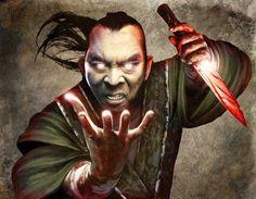 Fantasy Asian art. Legend of the five rings. Oriental artwork and illustrations - digital renderings Chuda Shojo