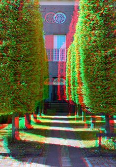 3-D Glasses  needed to see picture properly...  anaglyph. Enkhuizen 3D
