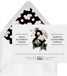 Fully customizable bold botanical invitations that wow. Easily create, send & track your dreamy flora invitations online. Unique designs from independent artists. Wedding Story, Wedding Blog, Fall Wedding, Botanical Wedding Invitations, Wedding Invitations Online, Invites, Wedding Stationery, Intimate Wedding Ceremony, Do It Yourself Wedding